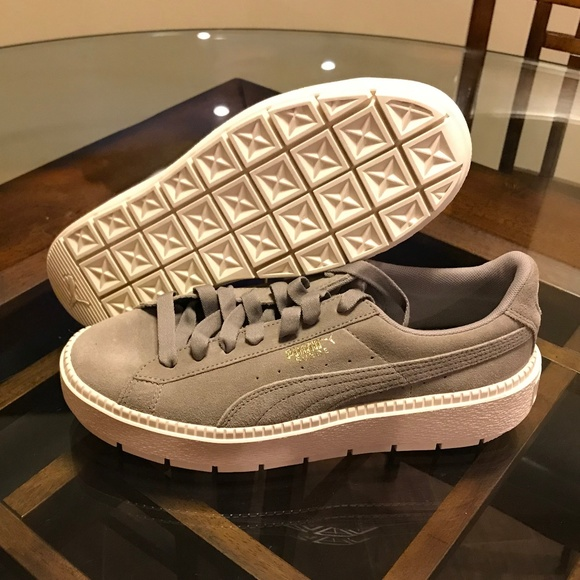huge discount f715e fb02e Puma Gray Platform Trace Rock Ridge Marshmallow